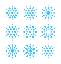 Water abstract icon set air conditioning vector