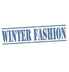 winter fashion grunge rubber stamp vector image