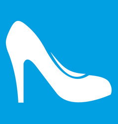 Women shoe with heels icon white vector