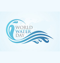 World water day splash vector