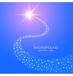 background bright shining star and comet vector image vector image