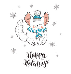 cute holidays greeting card vector image