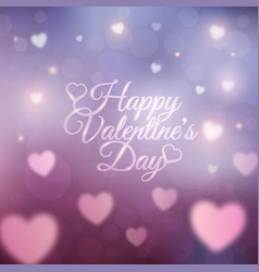happy valentines day card 14 february vector image