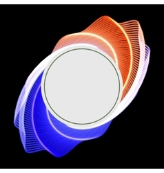 round glossy label banner frame vector image