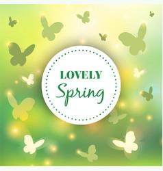 spring background bokeh design abstract vector image