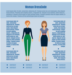 woman dress code infographic vector image vector image
