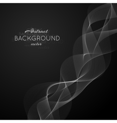 Abstract light white wave vector image vector image