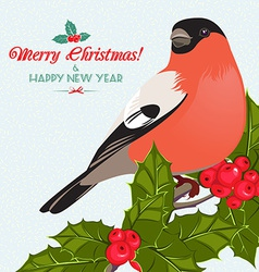 Christmas background and greeting card with vector image vector image