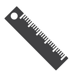 ruler solid icon education and school vector image