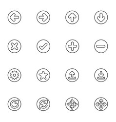 web icon sets line icons vector image