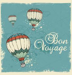 blue vintage travel background vector image vector image