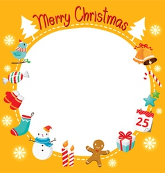 Christmas Ornaments and Decoration Border vector image