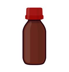 glass bottle medicine cosmetic chemistry vector image