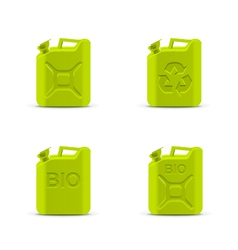canisters eco fuel concept vector image