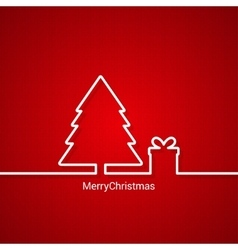 christmas tree web design red background vector image vector image