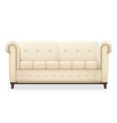 Leather luxury modern vintage living room sofa vector image