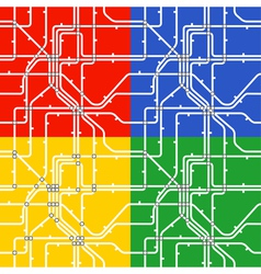 Metro scheme vector image