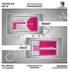 Modern Business Card Circle Template vector image