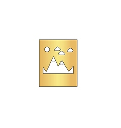 Mountains computer symbol vector image vector image