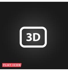 three-dimensional icon vector image