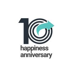 10 years happiness anniversary template design vector