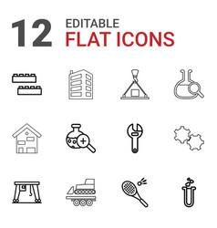 12 development icons vector