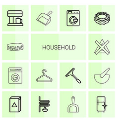 14 household icons vector