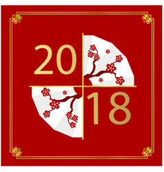 2018 chinese blow red background image vector