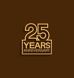25 years anniversary design line style vector
