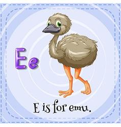 A letter E vector