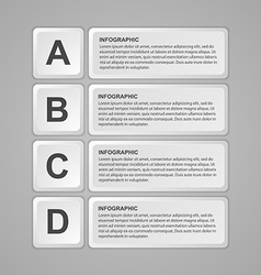 Abstract keyboard buttons infographic Design vector