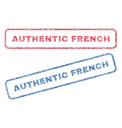 Authentic french textile stamps vector