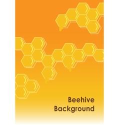 Beehive background vector
