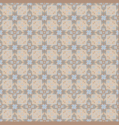 beige geometrical seamless pattern vector image