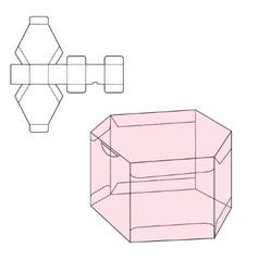 Box Die Line template vector