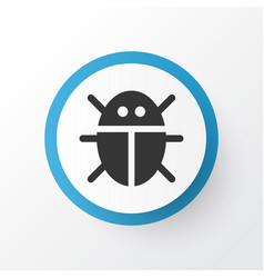 Bug icon symbol premium quality isolated beetle vector
