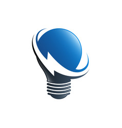 bulb lamp electrical logo innovation idea vector image
