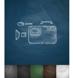 camcorder icon Hand drawn vector image