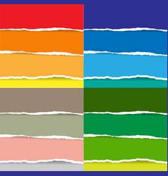 color torn paper big set vector image