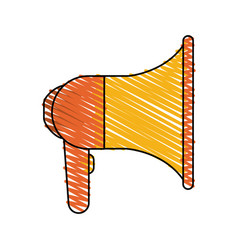 colorful megaphone icon vector image