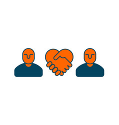 contract icon negotiation of concept boss icon vector image