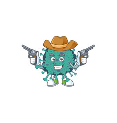 cool cowboy cartoon design critical vector image