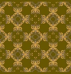 Damask seamless pattern ornamental background vector