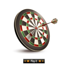 Darts board isolated vector image
