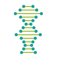 Dna particle isolated icon vector