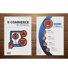 E-commerce business book cover template vector