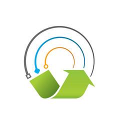 E-waste recycle icon vector
