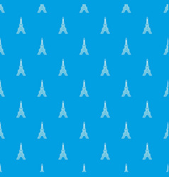 eiffel tower pattern seamless blue vector image