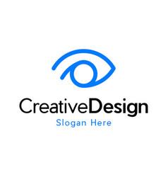 Eye vision innovative creative modern logo vector
