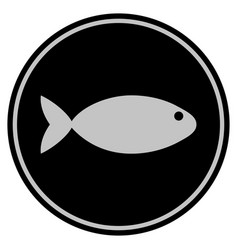 fish black coin vector image
